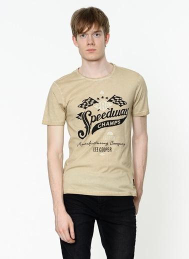 Lee Cooper Baskılı Tişört Bej